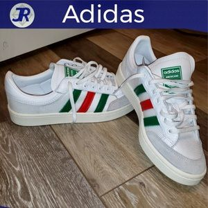 ❌SOLD❌ADIDAS Americana Sneakers Green Red Stripes